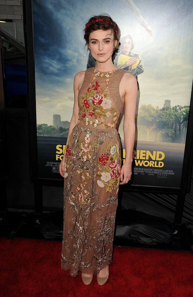 A beautifully intricate Valentino made a lasting impression when Keira arrived at the 2012 premiere of Seeking a Friend For the End of the World.