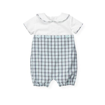 Janie and Jack's Sailor Checked Bubble ($39) will give your little guy some Spring-friendly nautical style.