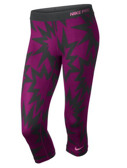 A pair of Nike Pro printed compression capris ($45) look like something out of a pop-art print. Top off the look with a matching bra ($35) to make an even louder statement!