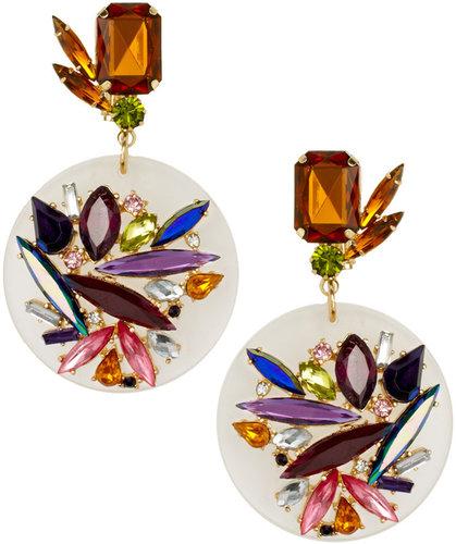 ASOS Jewel Perspex Disc Earrings