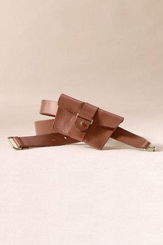 Women's Leather Pouch Belt