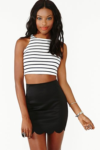 Striped Crop Tank