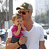 Chris Hemsworth Carrying Daughter India in LA
