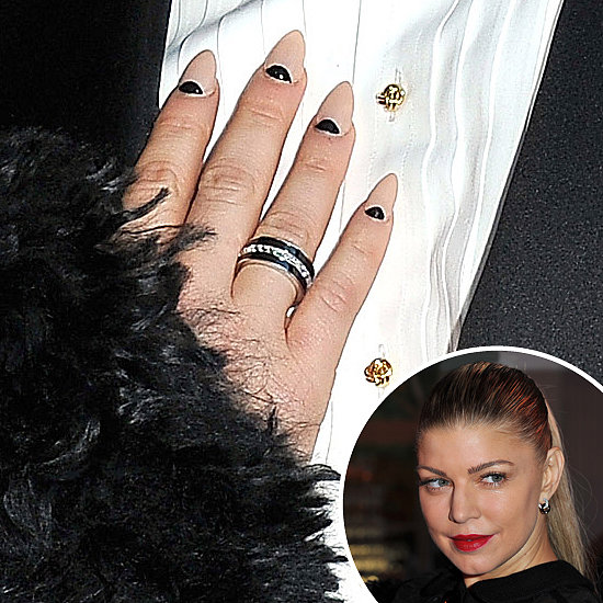 At the amfAR Inspiration Gala in 2011, Fergie dressed up her manicure with a half-moon design.