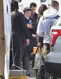 Real-life couple Ginnifer Goodwin and Josh Dallas were on the set of Once Upon a Time together on Tuesday in Vancouver.