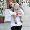 Hilary Duff Carries Sleeping Luca in LA | Pictures