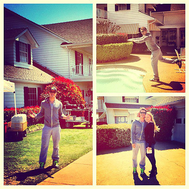 Josh Henderson took photos on the set of Dallas.  Source: Instagram user joshhendu