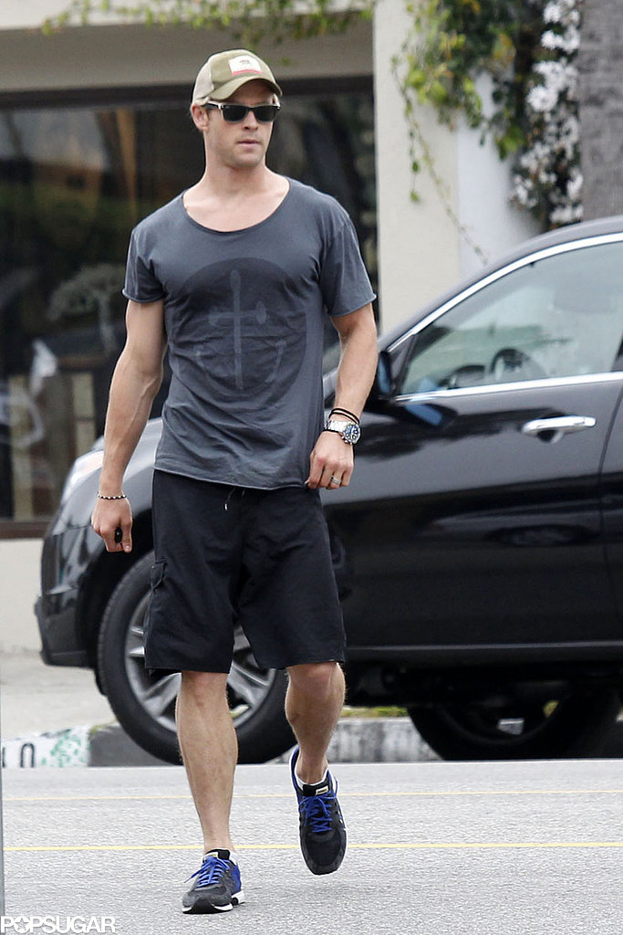 Chris Hemsworth kept it casual in LA on Wednesday.