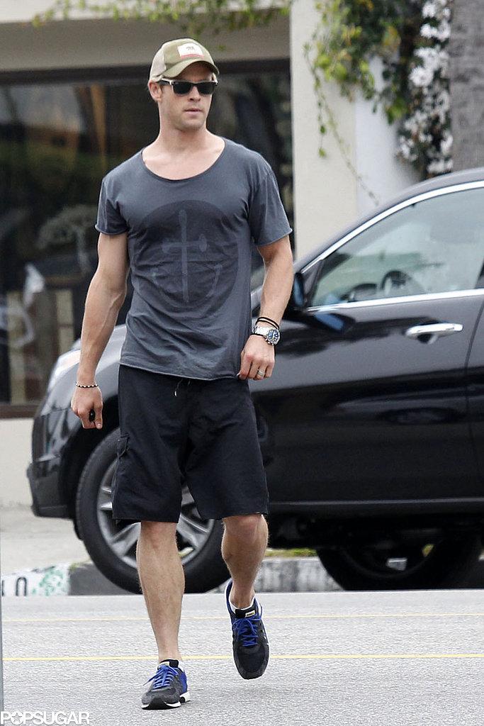 Chris Hemsworth kept it casual in LA on Wednesday.