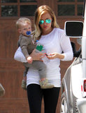 Hilary Duff ran errands with her son, Luca Comrie.