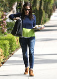 Jennifer Garner stepped out with a plate of cookies in LA.
