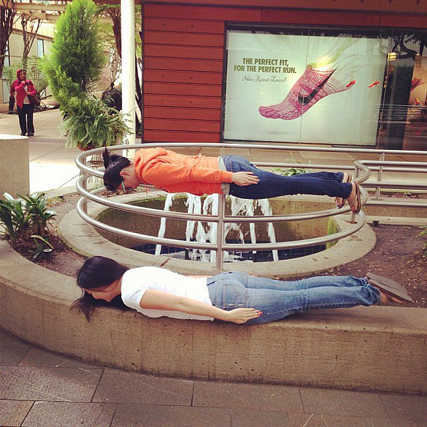 "Instagrammer tunalouie said this was ""planking for equality."" Source: Instagram user tunalouie"