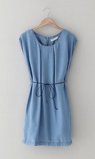 We adore the simplicity of this Won Hundred denim dress ($172). The thin cord tie is a genius finish.