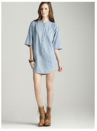 Wear French Connection's Phillipa denim dress ($45, originally $138) with sandals now, then with tights and booties come Fall.