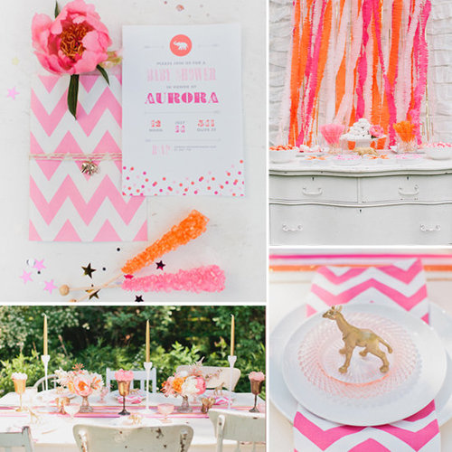 A Luxe Gold and Pink Circus Baby Shower