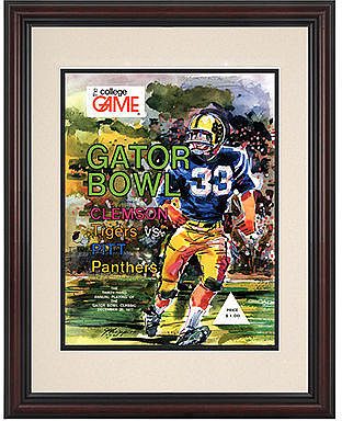 Mounted Memories Wall Art, Framed Pitt vs Clemson Football Program Cover 1977