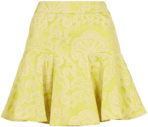 Co-ord Lime Jacquard Skirt