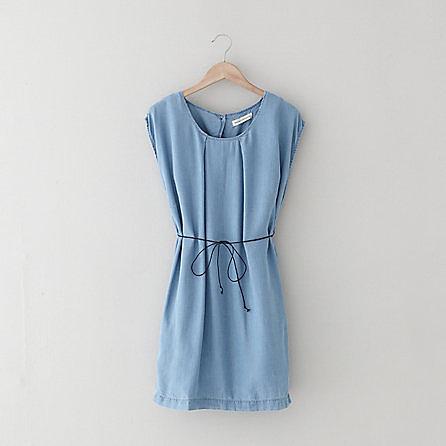 WON HUNDRED inky denim dress