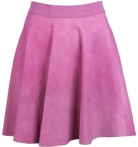 3.1 Phillip Lim Flared leather skirt