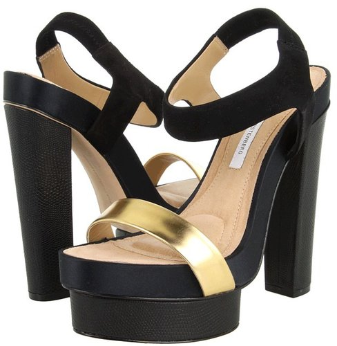 Diane Von Furstenberg - Toy (Black/Gold/Black) - Footwear