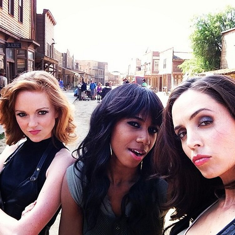 Eliza Dushku, Santigold, and Glee's Jayma Mays posed for a segment of Paul Scheer's Adult Swim series, NTSF:SD:SUV::. Source: Twitter user elizadushku