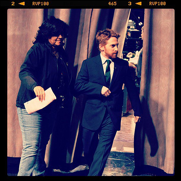 Seth Green got caught on candid camera on Conan. Source: Instagram user teamcoco