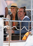 Kristen Bell and Dax Shepard went for a boat ride during a September 2009 trip to Sydney.
