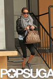 Nicole Richie left a workout at Tracy Anderson's studios in LA.