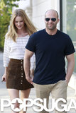 Jason Statham and Rosie Huntington-Whiteley held hands in Beverly Hills.