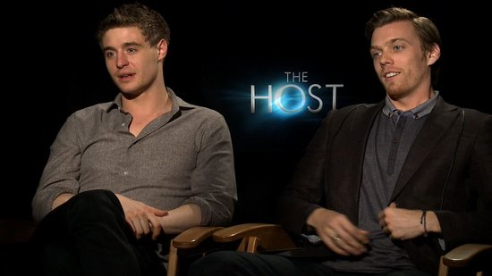 "Max Irons and Jake Abel on Their ""Muscular, Tanned"" Competition For The Host"