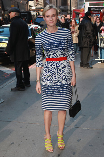 Diane Kruger posed outside of the Good Morning America studios.