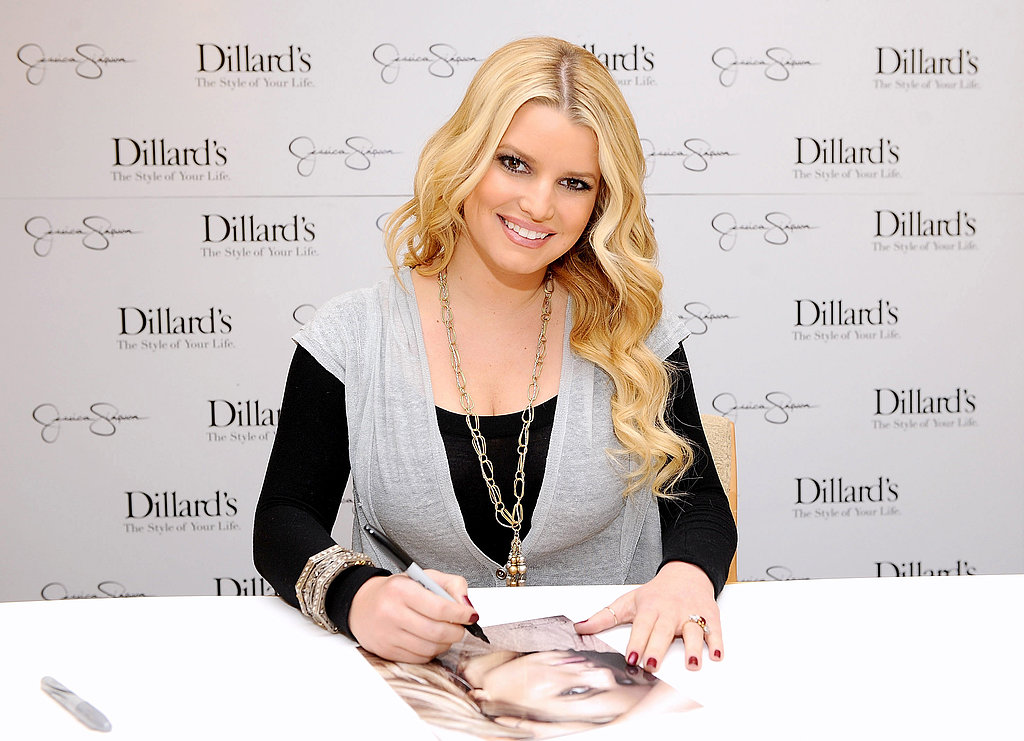 Jessica Simpson casually revealed her engagement ring from Eric Johnson at a November 2010 mall event in Kansas just a few days after he popped the question.