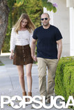 Rosie Huntington-Whiteley wore a miniskirt.