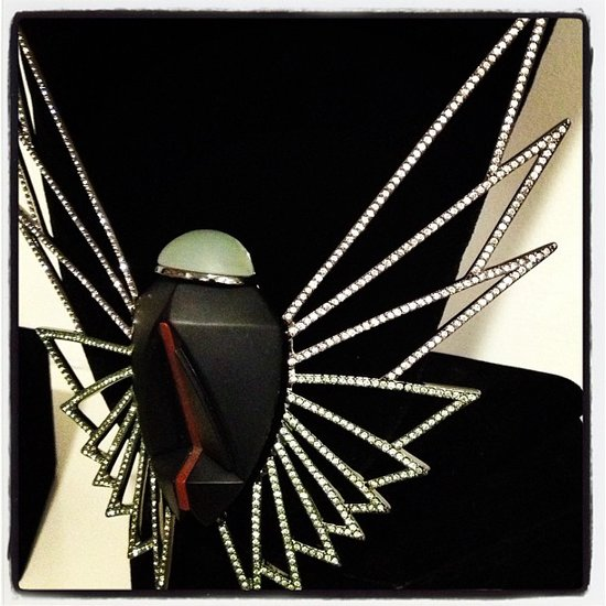 Stylized scarabs at Eddie Borgo.