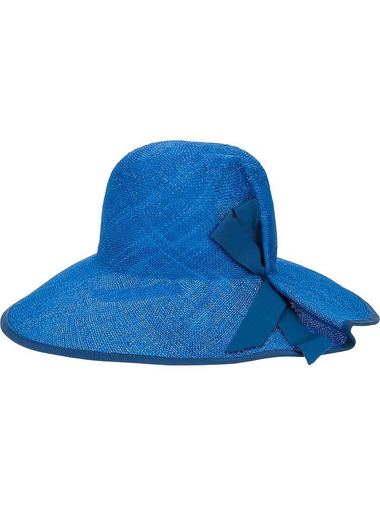 Cobalt is having a major moment right now, which is why we are smitten with this brilliant Inverni sun hat ($182). The blazing color is sure to illuminate every skin tone.
