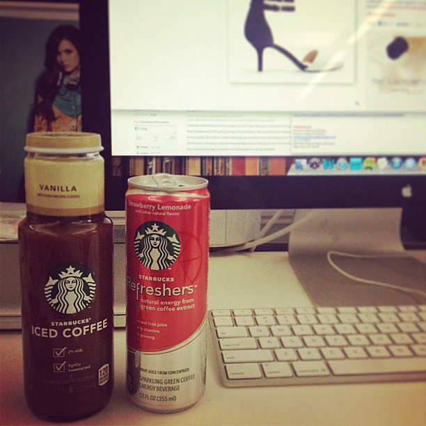 Starbucks paid us a visit to drop off a bevy of afternoon pick-me-ups. Thanks!