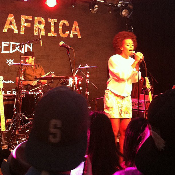 We'll never miss a chance to see Solange Knowles perform. She belted out some tunes at the Edun + Diesel party.