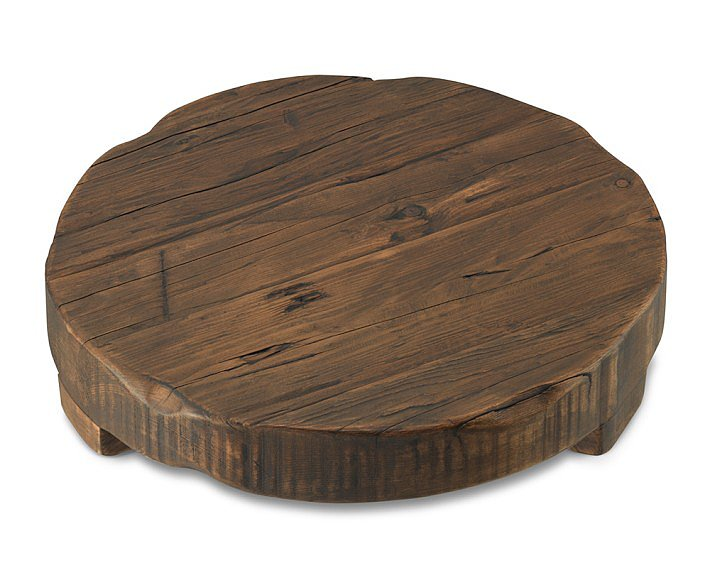 If you don't have room for a large cupboard, then bring a similar wood texture and color to your dining room using this pine platter ($139).