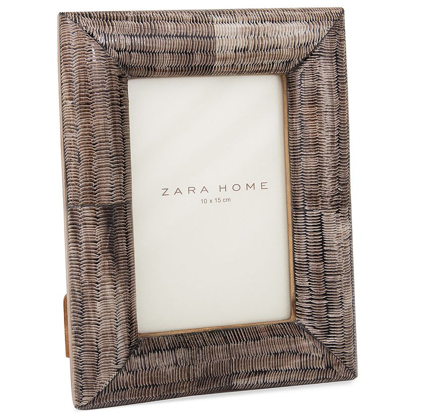 This frame ($36) adds a texture similar to fighting armor to a bookcase or shelf.