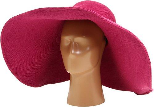 San Diego Hat Company - FBX1004 Fine Braid XL Brim Floppy Straw Sun Hat (Raspberry) - Hats
