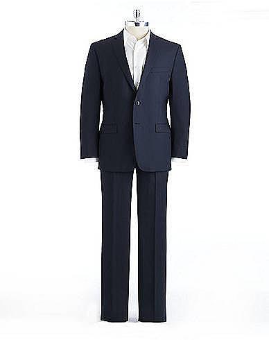 CALVIN KLEIN Wool Pinstripe Suit