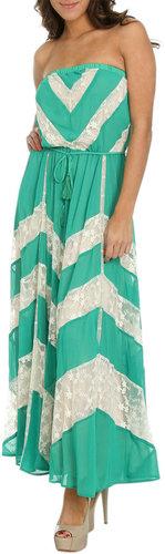 Chevron Lace Maxi Dress