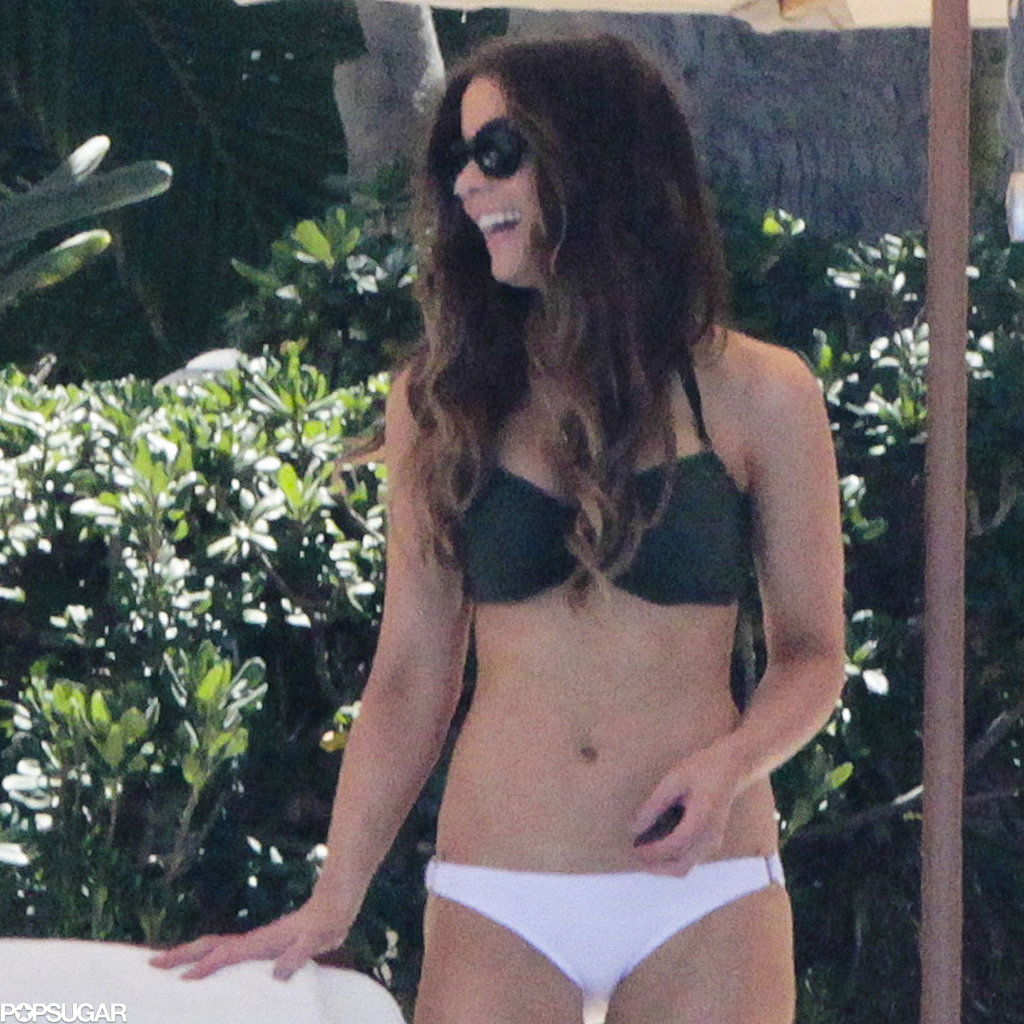 Kate Beckinsale showed off her bikini body.