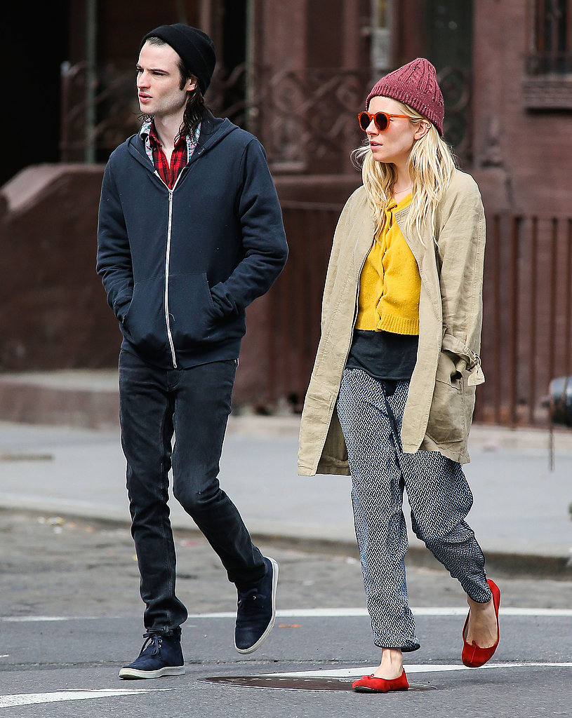 Tom Sturridge wore a sweatshirt.