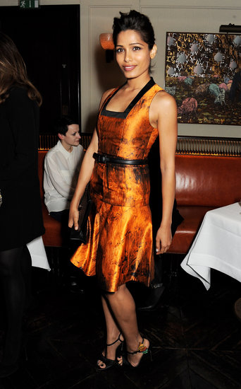 Freida Pinto wowed at a dinner for Proenza Schouler in a fit-and-flare dress from the label's Pre-Fall '13 collection.