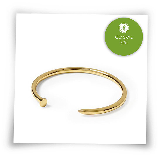 I've been quite obsessed with this Nail Bangle for a while. It is the perfect everyday bracelet. Wear it on its own, or stack with others.  See more Style Shortcuts