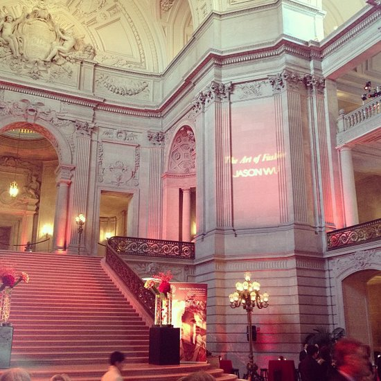 City Hall's gorgeous Rotunda served as a beautiful space for cocktails and small bites before the show. Source: Instagram user popsugarfashion