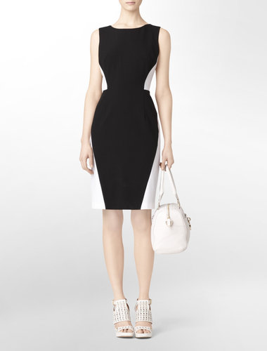 Black + White Colorblock Sheath