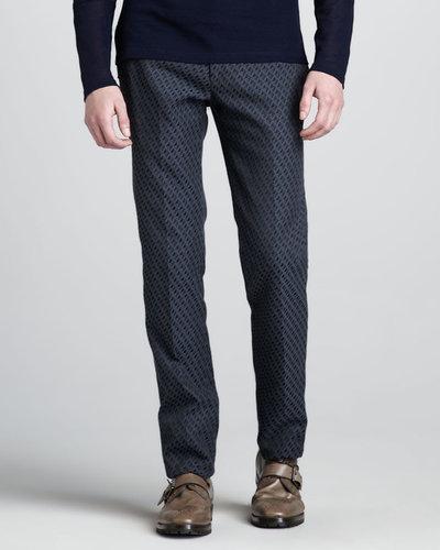 Belstaff Ikat-Print Slim Trousers