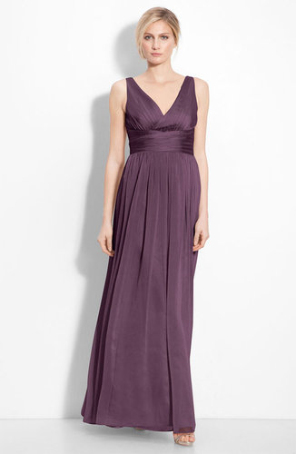 ML Monique Lhuillier Bridesmaids Sleeveless Ruched Chiffon Dress (Nordstrom Exclusive)